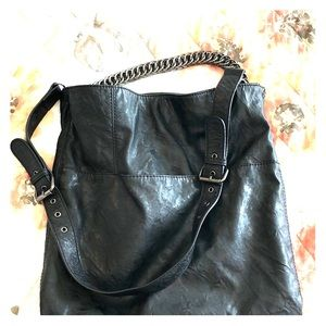 GAP Black Faux Leather Handbag Purse